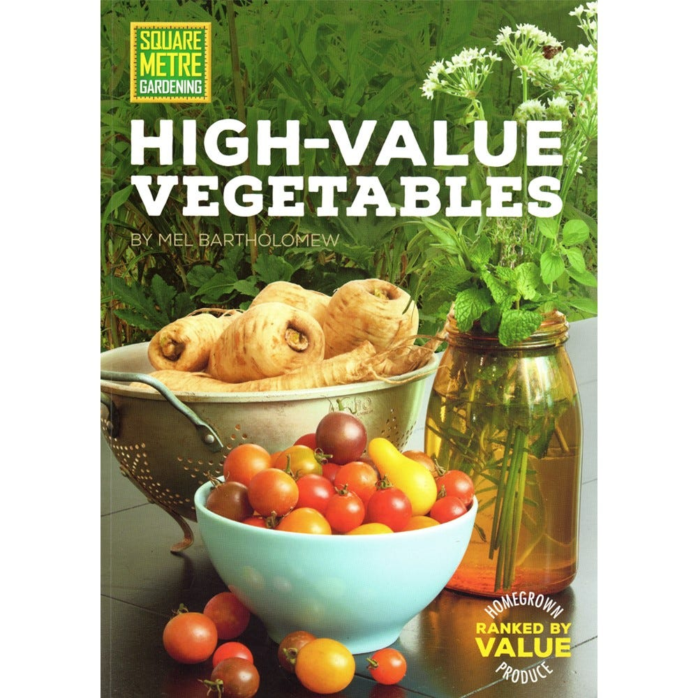 Image of Square Metre Gardening High Value Vegetables Book