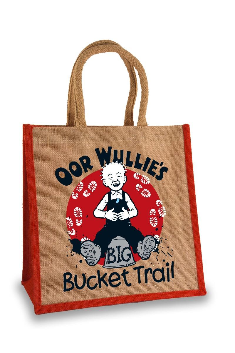 Oor Wullie Bucket Trail Jute Bag