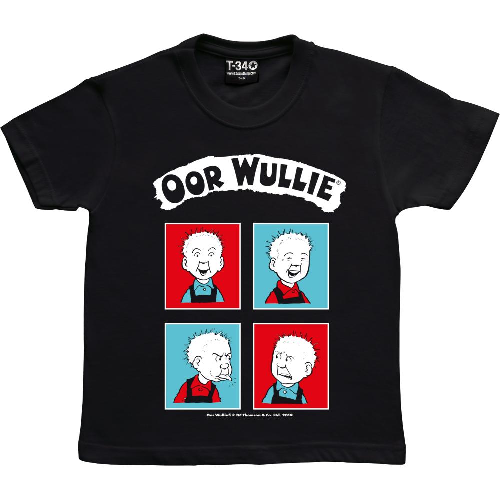 Oor Wullie Red & Blue Kids T-shirt