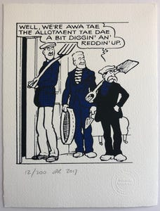 The Broons Go To The Allotment Print