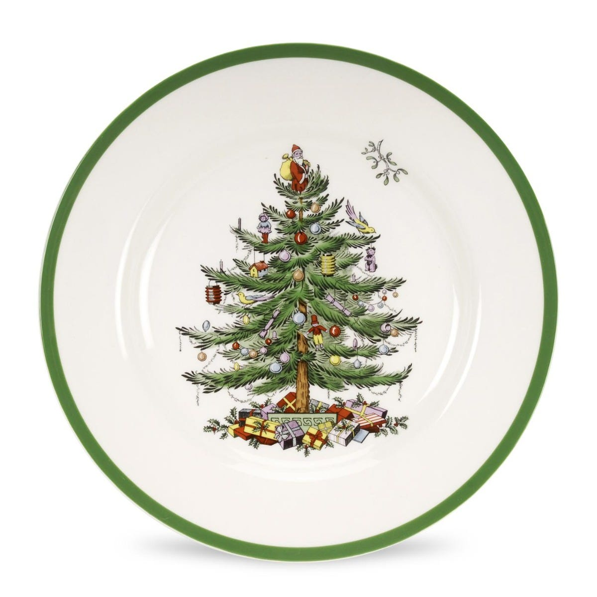 Product image for Christmas Tree Dinner Plates - Set of 4