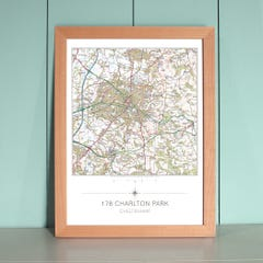 My Home Is Here – Personalised Wall Map