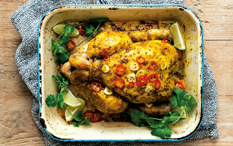 Chicken Roasted with Indian Spices