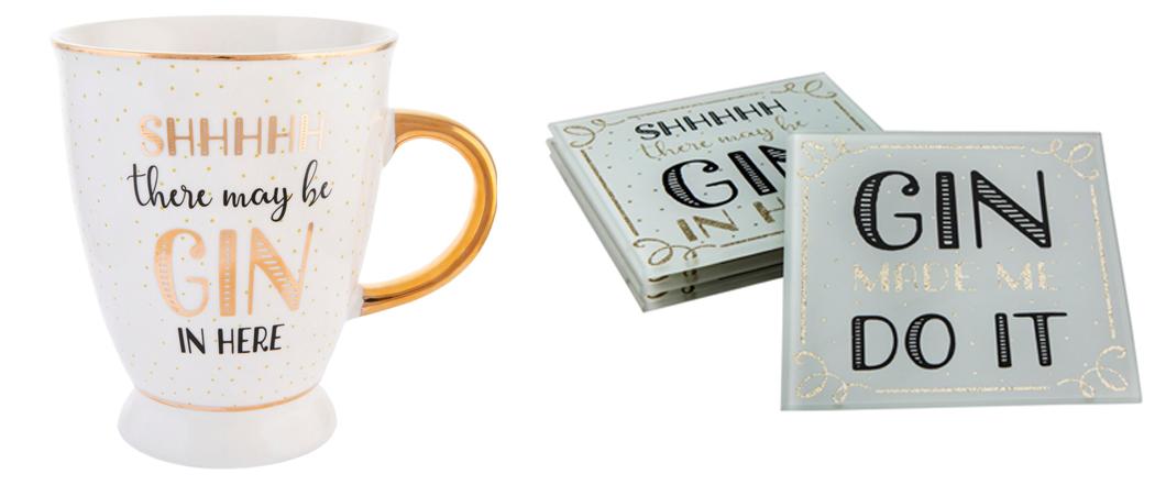 Gin Mug & Coasters