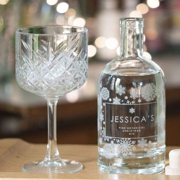 Personalised Snowflake Gin