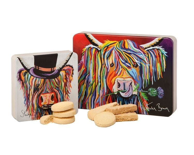 Dean's Steven Brown Art Shortbread Tins Duo
