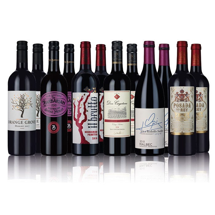 Classic Red Wine Selection 12 Bottles