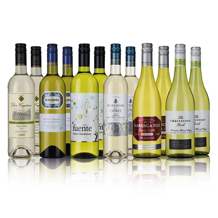 Classic White Wine Collection 12 Bottles