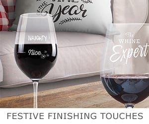 Festive finishing touches